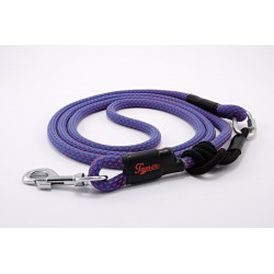 Dog leash Tamer blue/red with sliding system 8-50 Kg