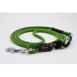 Dog leash Tamer green/black with sliding system 8-50 Kg