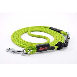 Dog leash Tamer yellow/green with sliding system 4-20 Kg