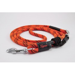 Dog leash Tamer orange/black with sliding system 8-50 Kg