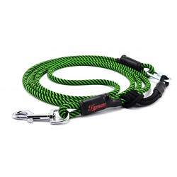 Dog leash green/black Tamer with sliding system 4-20 Kg