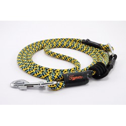 Dog leash Tamer yellow/blue/black with sliding system 8-50 Kg