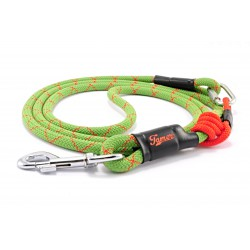 Dog leash Tamer green/red with red sliding system 8-50 Kg