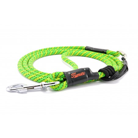 Dog leash Tamer green/yellow/black with sliding system 8-50 Kg
