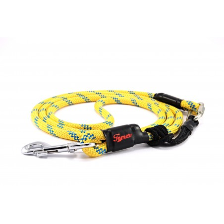 Dog leash Tamer yellow/blue with sliding system 8-50 Kg