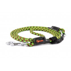 Dog leash Tamer black/green/red with sliding system 8-50 Kg
