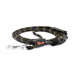 Dog leash Tamer black/khaki with sliding system 8-50 Kg