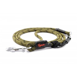 Dog leash Tamer green/black with black sliding system 8-50 Kg
