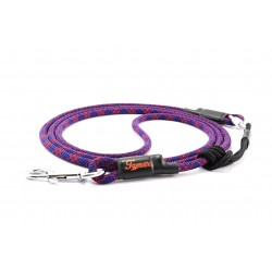 Dog leash Tamer blue/red with sliding system 4-20 Kg