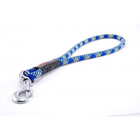 Pull tab leash Tamer blue/yellow