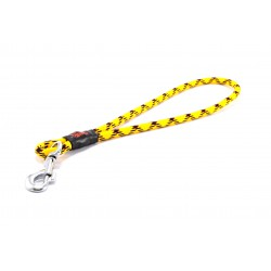 Pull tab leash Tamer yellow/black/red
