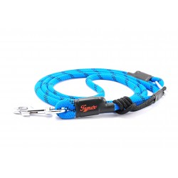 Dog leash Tamer blue/black with sliding system 8-50 Kg