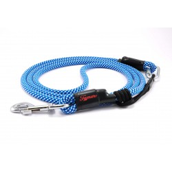 Dog leash Tamer white/blue with sliding system 8-50 Kg