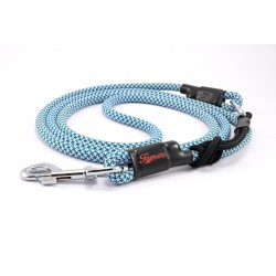 Dog leash Tamer white/blue/green with sliding system 8-50 Kg