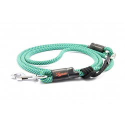 Dog leash Tamer light blue/green with sliding system 8-50 Kg