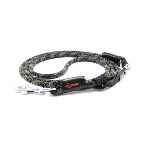 Dog leash Tamer purple/khaki/black with sliding system 8-50 Kg
