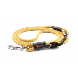 Dog leash Tamer yellow/blue with green sliding system 8-50 Kg