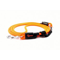 Dog leash Tamer orange/green with sliding system 8-50 Kg
